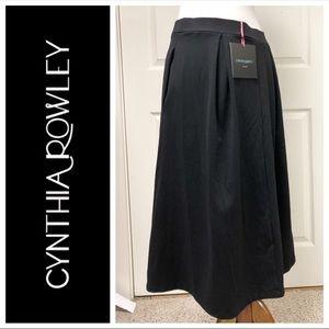 NEW CYNTHIA ROWLEY BLACK SKIRT